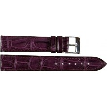 Genuine crocodile leather watch band SPMC-S01 Viola