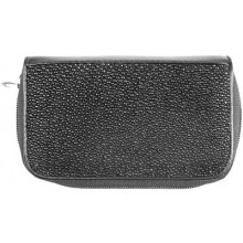 Genuine stingray leather key holder and coin wallet ST2114L Black
