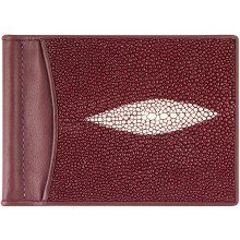 Genuine stingray leather money clip ST2392A Violet