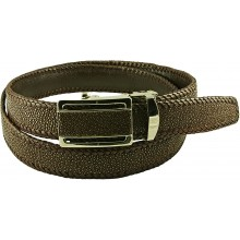 Genuine stingray leather belt STA1SA1-35 Brown