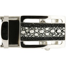 Stingray covered automatic buckle STBUCKLE KF 1-5 Black
