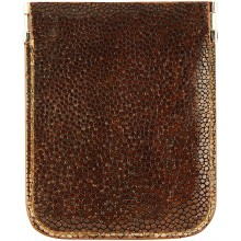 Genuine stingray leather coin wallet STCP09SA Brown