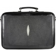 Genuine stingray leather laptop briefcase STDC4 Black