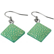 Genuine stingray leather earrings STER05SA Turquoise