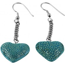 Genuine stingray leather earrings STER16SA Turquoise