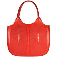 Genuine stingray leather bag STH424 Fire Red