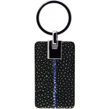 Genuine stingray leather key chain STKH29SA Black / Navy Blue