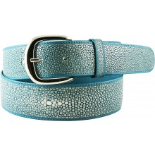 Genuine stingray leather belt STMBB1-5SA Aquamarine