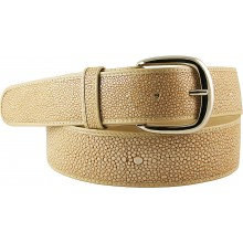 Genuine stingray leather belt STMBB1-5SA Dark Beige