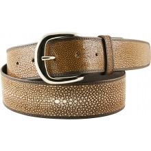 Genuine stingray leather belt STMBB1-5SA Light Brown