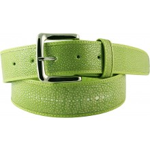 Genuine stingray leather belt STMBB1-5SA Light Green
