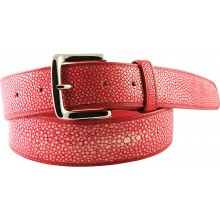 Genuine stingray leather belt STMBB1-5SA Red