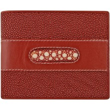 Genuine stingray leather wallet STW044-3 Fire Red