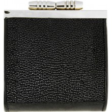 Genuine stingray leather coin purse STW163 Black