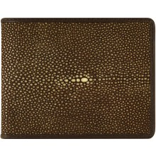 Genuine stingray leather wallet STW48TH-SA Brown