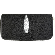 Genuine stingray leather wallet STW51TH Black