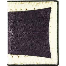 Genuine stingray and snake wallet STW53TH Violet / Natural