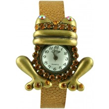 Fashion watch with stingray leather watch band STWAB1701-3 Beige