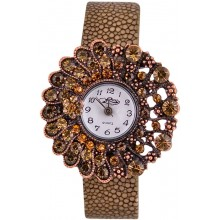 Fashion watch with stingray leather watch band STWAB1823-3 Brown