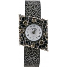 Fashion watch with stingray leather watch band STWAB206-2 Black