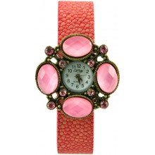 Fashion watch with stingray leather watch band STWAB2261-2 Red