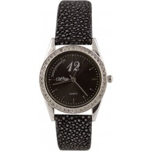 Fashion watch & stingray leather watch band STWACT26 Black