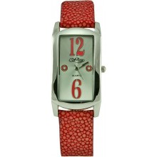 Fashion watch & stingray leather watch band STWAP03 Red