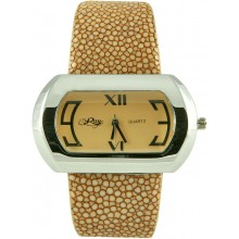 Fashion watch & stingray leather watch band STWAP06 Beige