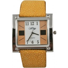 Fashion watch & stingray leather watch band STWAP28 Yellow