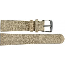 Genuine stingray leather watch band SWB001 Cream