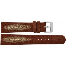 Genuine stingray leather watch band SWB002 Brown