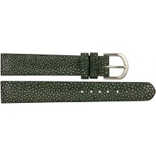 Genuine stingray leather watch band SWB004SA Black