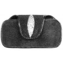 Genuine stingray leather mobile phone glasses case TRJ12 Black