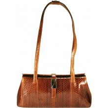 Genuine snake leather bag TSN29 Tan