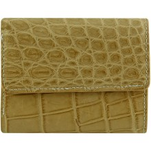 Genuine crocodile leather wallet UAMC28 Beige