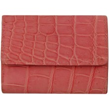 Genuine crocodile leather wallet UAMC28 Pink