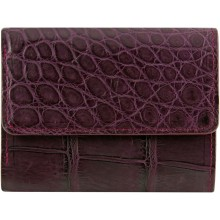 Genuine crocodile leather wallet UAMC28 Violet
