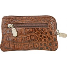 Genuine alligator leather card holder UCMC29 Brown