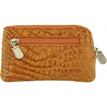 Genuine alligator leather card holder UCMC29 Peanut