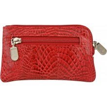 Genuine alligator leather card holder UCMC29 Red