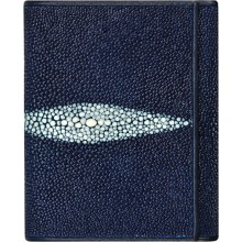 Genuine stingray leather wallet USRT Blue