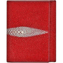 Genuine stingray leather wallet USRT Fire Red