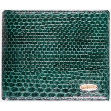 Genuine snake leather wallet USSN04 Green