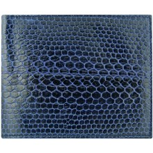 Genuine snake leather wallet USSN04 Midnight Blue