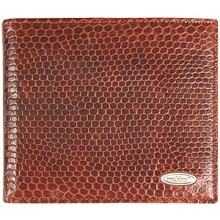 Genuine snake leather wallet USSN04 Tan
