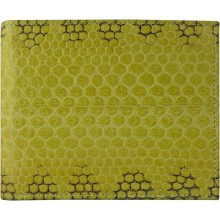 Genuine snake leather wallet USSN04 Yellow