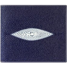 Genuine stingray leather wallet USW04P Blue