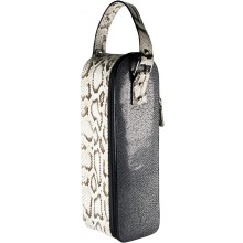 Genuine python and stingray spirits carrier WINE01PT-SA Natural / Black