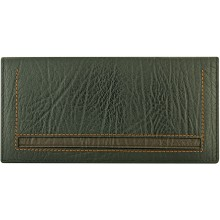 Genuine cow leather wallet WLW020 Black / Brown
