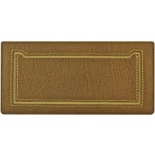 Genuine cow leather wallet WLW021 Brown